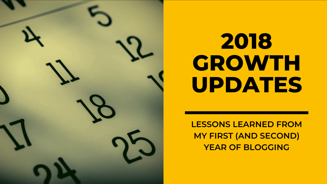 Lessons Learned From My First Year of Blogging: 2018 Personal Growth Updates